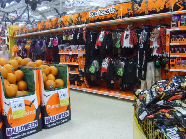 Halloween costumes and supplies