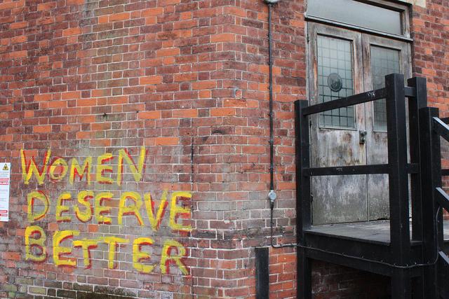 Graffiti protesting sexual assault