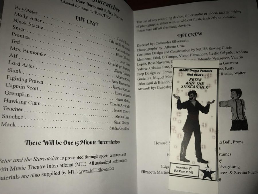 The play's program given out during the performance as well as the ticket.