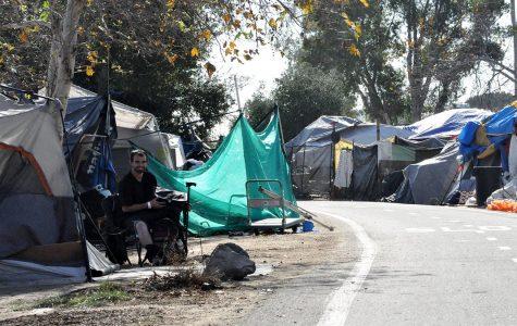 Homeless man in the Santa Ana Riverbed