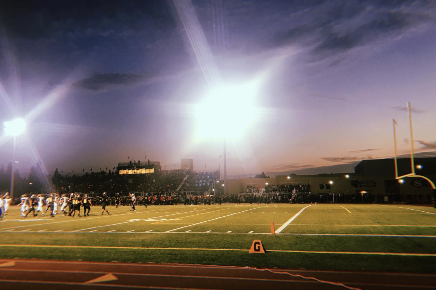 Football game between Godinez and Segerstrom on August 31.