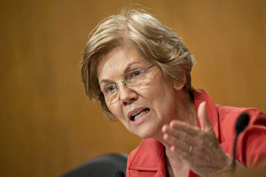 Senator Elizabeth Warren pictured at trial.