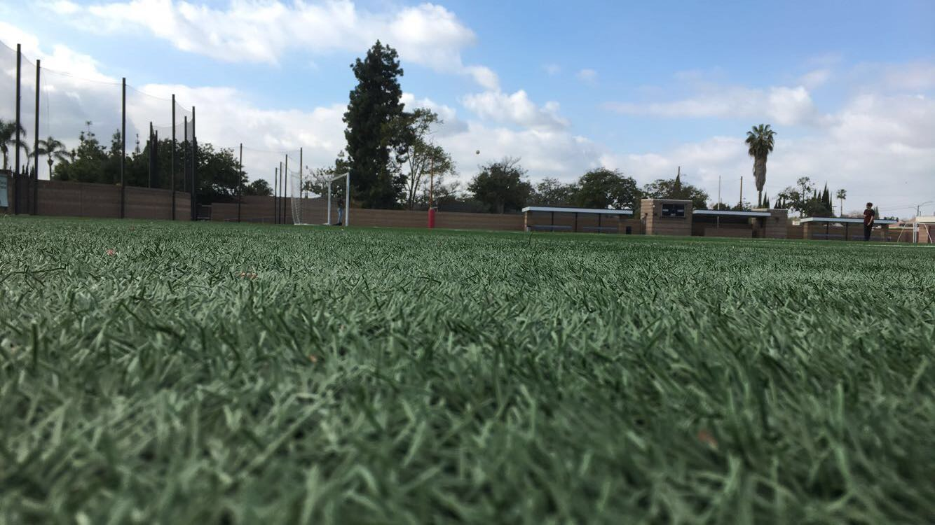 The soccer field at Santa Ana College where many students have memories of playing there this year.