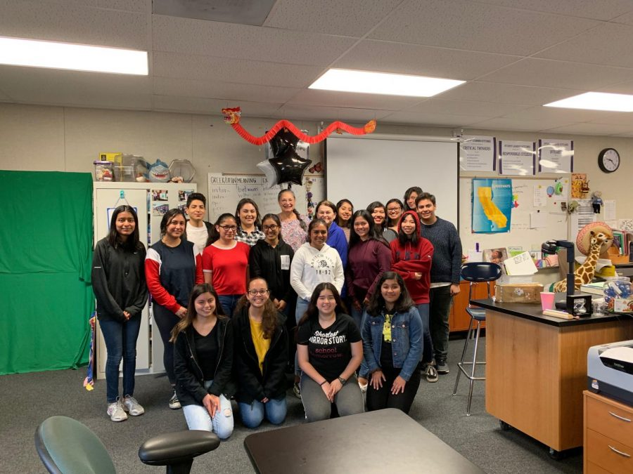 Mrs. Maharaj and her last MCHS MedCore class