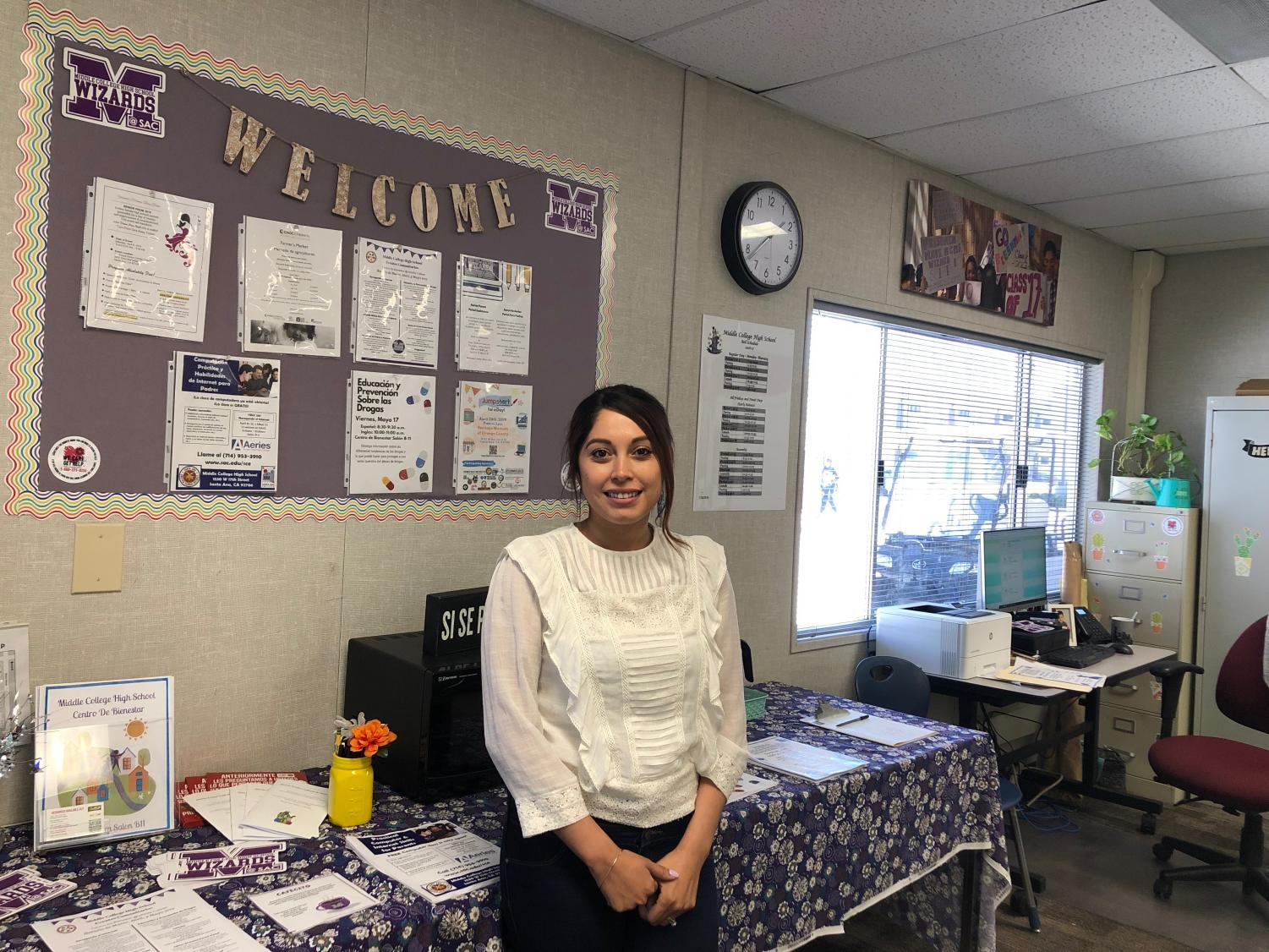 Ms. Quinones, the head of the new Wellness Center, is ready to help any students in need.