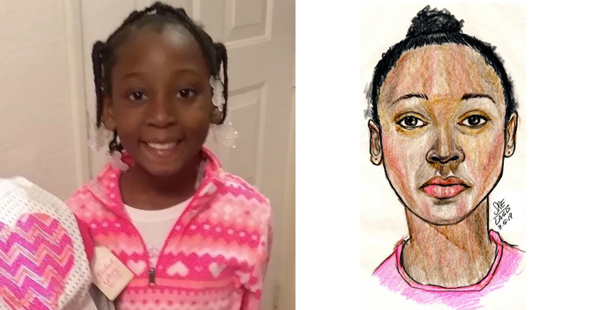 Trinity Love Jones, pictured above, was last seen with her mother hours before her murder.