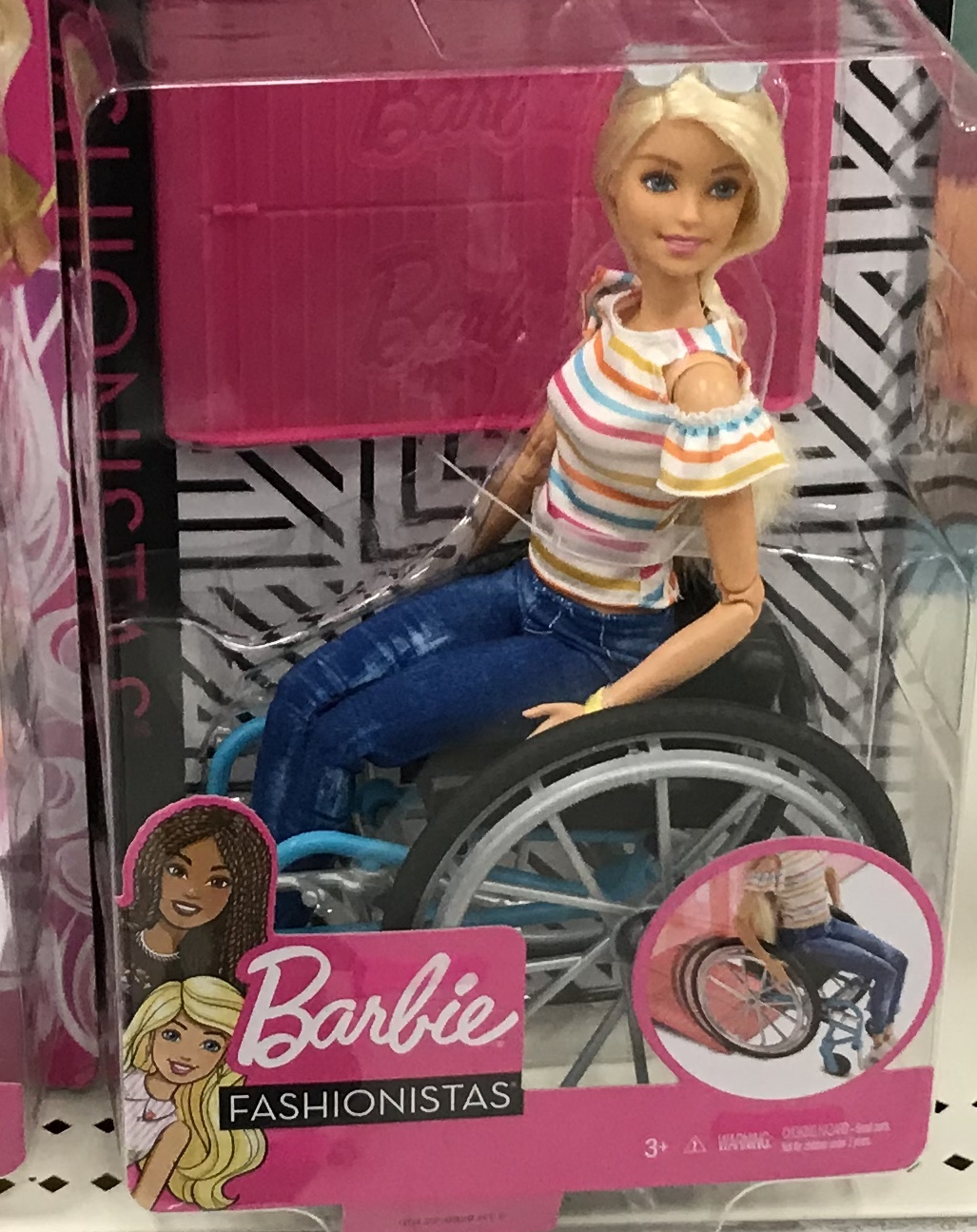 One+of+the+many+new+inclusive+Barbies+from+the+Fashionista+Line.