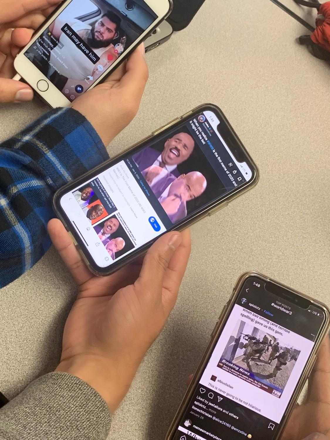 MCHS students gathered to share their funniest memes regarding WWIII