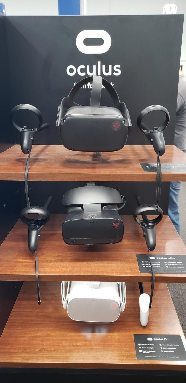 A+customer+views+the+virtual+reality+headsets+available+at+Best+Buy.