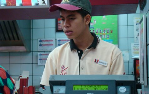 Students who have jobs as fast food workers have to manage the stress of many extra safety precautions during this pandemic.