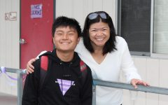 Dylan Mai, pictured here with senior English/AVID teacher Ms. Nguyen, is an expert in balancing schoolwork and managing stress.