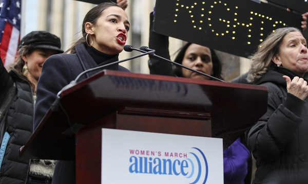Congresswoman Alexandria Ocasio-Cortez gives a speech at the 2019 Womens March in New York about civil rights, justice and why being polite is not the same as being quiet.