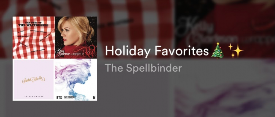 The Spellbinder staff's favorite songs for the upcoming holidays this winter.