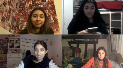 Jaquelyn Robledo, Evelyn Gudino, Ivette Solorzano, and Cristina Alvizo discuss their senior year.