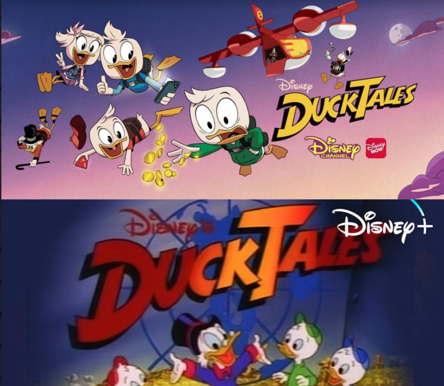 Both DuckTales series side by side showing the evolution of Disney's legendary cartoon for 30 years from 1987-2017.