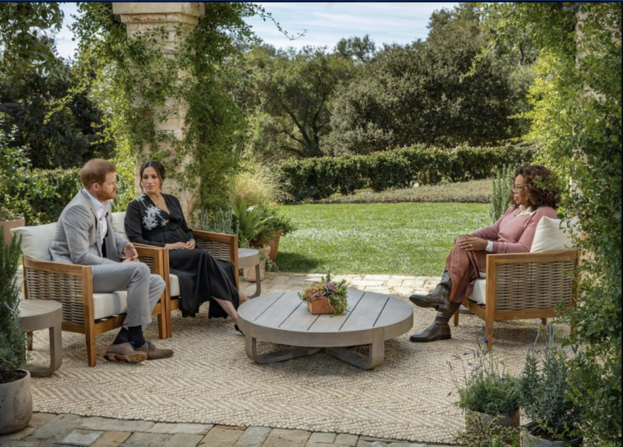 Prince+Harry+and+Meghan+Markle%27s+interview+with+Oprah+put+the+Royal+Family+in+the+spotlight.