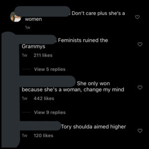 These comments are just some of the thousands of unfunny and disgusting remarks under an Instagram post made about women and Megan Thee Stallion.