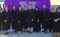 MCHS teachers, including our former CTE teacher and Ms. T,  who have since moved on, posed for a group shot a few graduations ago.