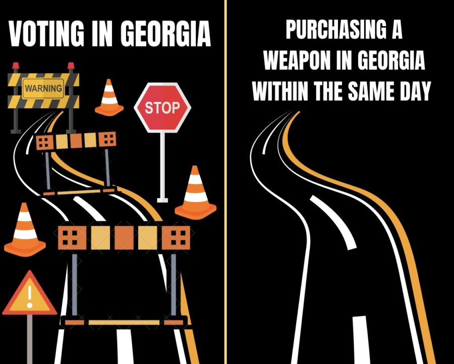 In the state of Georgia, a no-wait gun law allowed gunman Robert Aaron Long to purchase a firearm and cause a series of mass shootings, within the same day.