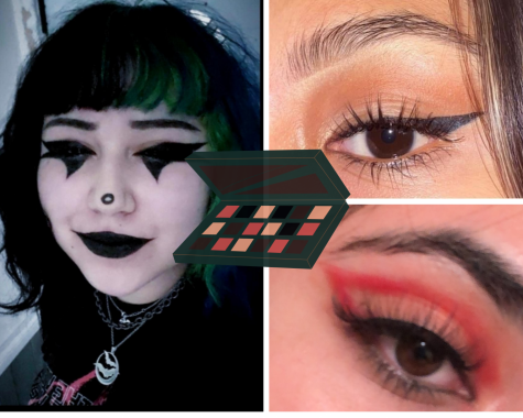 Three different makeup looks are created inspired by TikTok trends.