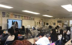 Mrs. Hariri and her 7th period AVID class prepare for the lesson.